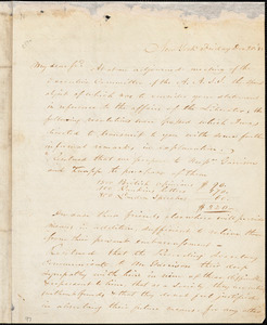 Letter from Abraham Lidden Cox, New York, [New York], to William Lloyd Garrison, [18]33 Dec[ember] 20