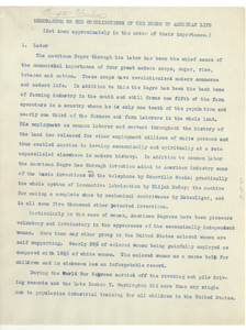 Memorandum on the contributions of the Negro to American life