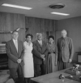 J. Willard Marriott, Jr. and Sr. with three unidentified African Americans.