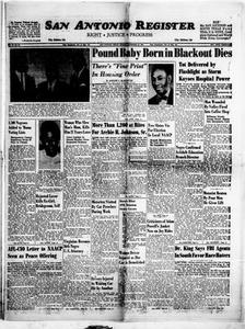 San Antonio Register (San Antonio, Tex.), Vol. 32, No. 39, Ed. 1 Friday, November 30, 1962 San Antonio Register