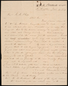 Letter from William H. Stoddard, Northampton, to Amos Augustus Phelps, June 17. 1839