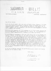 Letter from Russell B. Sugarmon, Jr. and A. W. Willis, Jr. to Fellow Citizens