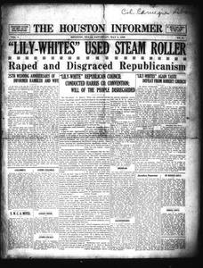 The Houston Informer (Houston, Tex.), Vol. 1, No. 51, Ed. 1 Saturday, May 8, 1920 The Houston Informer