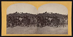 [Soldiers from the 134th Illinois Volunteer Infantry at Columbus, Kentucky sitting in tent]