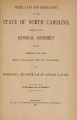 Public laws and resolutions of the State of North Carolina passed by the General Assembly at its session of ...[1895] Laws, etc.; Public laws of North Carolina