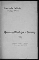 Clark University: Gammon School of Theology 1885-1886
