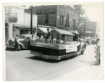 "Photo of Float with sign ""Modern Dairy Equipment...W.H. Martin Farm...Rockingham County"""
