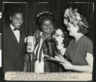 Hattie McDaniel participating in an Academy Awards broadcast, Mar. 13, 1947, Los Angeles