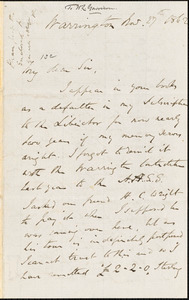 Letter from William Robson, Warrington, [England], to William Lloyd Garrison, 1862 Nov[ember] 27th