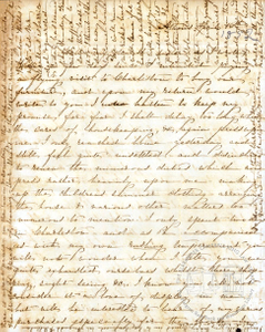 Letter: Athens, [Georgia] to Callie [King], 1852 Apr. 16