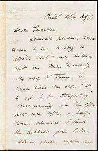 Letter from James Miller M'Kim, Phil[adelphi]a, [Pa.], to William Lloyd Garrison, Ap[ri]l 20 / [18]61
