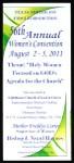 Annual women's convention flier, Texas Southeast, COGIC, Dallas, 2011