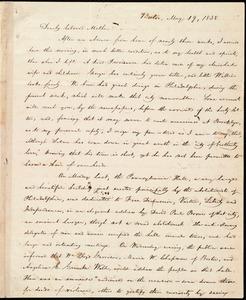 Letter from William Lloyd Garrison, Boston, [Mass.], to Sarah Thurber Benson, May 19, 1838