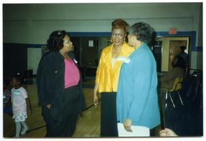 Links Members in Conversation in Gymnasium San Antonio Chapter of Links Records