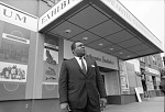 Director John R. Kinard in front of Anacostia Neighborhood Museum