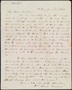 Letter from William Lloyd Garrison, Boston, [Mass.], to James Miller M'Kim, June 12, 1846