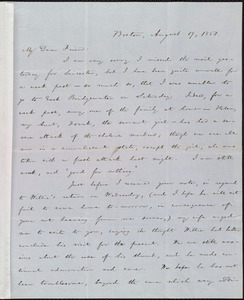 Letter from William Lloyd Garrison, Boston, [Mass.], to Samuel May, August 19, 1851