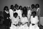 Black Women Lawyers Association event attendees pose for a group portrait, Los Angeles, 1987
