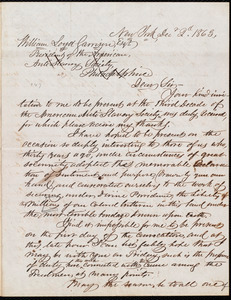 Letter from Simeon Smith Jocelyn, New York, [N.Y.], to William Lloyd Garrison, Dec[ember] 2d. 1863