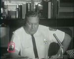 WALB newsfilm clip of police chief Laurie Pritchett speaking about the arrests of kneel-in participants at city hall in Albany, Georgia, 1962 July 27