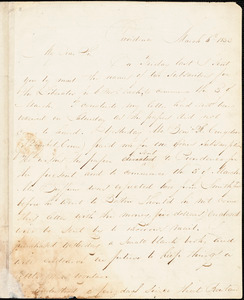 Thumbnail for Letter from Henry Egbert Benson, Providence, [Rhode Island], to William Lloyd Garrison, 1832 March 6th
