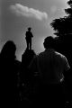 Thumbnail for Group standing in the town square near the Confederate monument in Tuskegee, Alabama, during a student demonstration to protest the verdict in the trial of Thomas Coleman, a Lowndes County man who had been charged with the murder of Jonathan Daniels.
