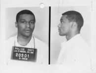 Mississippi State Sovereignty Commission photograph of Lester Gene McKinnie following his arrest for his participation in the Freedom Rides, Jackson, Mississippi, 1961 May 28