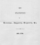 Statistics of revenue, imports, exports, etc. 1691 - 1768