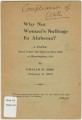 """""""Why Not Woman's Suffrage in Alabama?"""" by William H. Sims."""