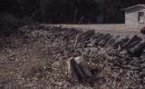 Alexandria Cemeteries Historic District: stone wall