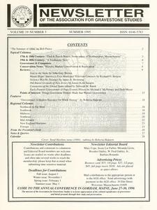Newsletter of the Association for Gravestone Studies. Vol. 19, no. 3