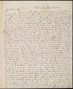 Letter from William Lloyd Garrison, Edinburgh, [Scotland], to Helen Eliza Garrison, July 20, 1840