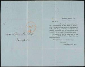 Letter from Joshua Leavitt, Boston, to Amos Augustus Phelps, May 2, 1846