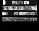 Set of negatives by Clinton Wright including Mack's Barber shop, copy of Wilson's anniversary, Medicare group at Riviera, Jefferson Day Care Birthday Party, science fair at Matt Kelly, rose at parking lot, New Jerusalem Baptist Church, and Sojona, 1966