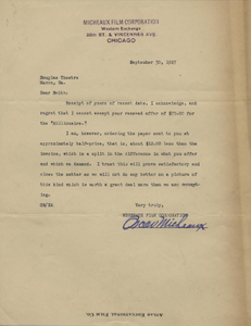 Letter: Chicago, Illinois to William M. Smith, Macon, Georgia, 1927 Sept. 30