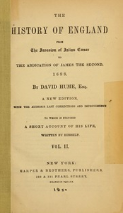 The history of England from the invasion of Julius Caesar to the abdication of James the Second, 1688, v.2