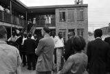 Audience at a press conference held by Martin Luther King Jr. and others at the Gaston Motel in Birmingham, Alabama.