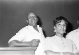 Charlie Marshall, a cook at the Laicos Club in Montgomery, Alabama, with a woman.