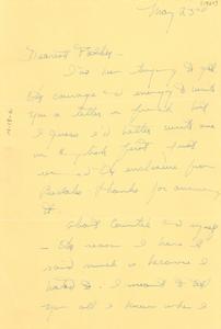 Letter from Yolande Du Bois to W. E. B. Du Bois