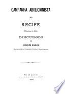 Campanha abolicionista no Recife (eleic̜ões de 1884) : discursos