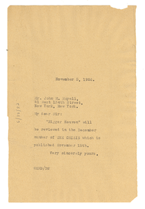 Letter from W. E. B. Du Bois to John M. Royall