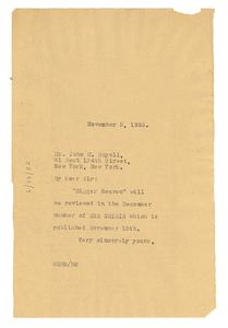 Thumbnail for Letter from W. E. B. Du Bois to John M. Royall
