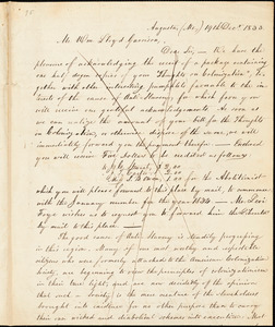 Thumbnail for Letter from Emery Brown, Augusta, M[ain]e, to William Lloyd Garrison, 1833 Dec[embe]r 19th