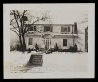 Winter scene, the home of the John E. Nails Gr. Barrington, Mass.