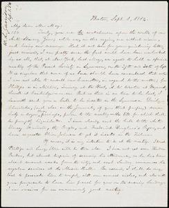 Letter from William Lloyd Garrison, Boston, [Mass.], to Samuel Joseph May, Sept. 1, 1854