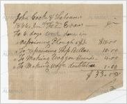 Statement of John Cocke's account with Fred Evans, 1866