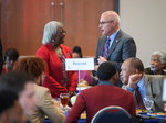 Linnie Willis and Noel Wilkin at Luncheon on February 25, 2020