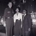 "Film negatives of policeman Hank Brush, Boots Wade, and Harold ""Stumpy"" Cromer at the Moulin Rouge slots, July 30, 1955"