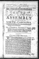 Acts of assembly of the State of North Carolina [1779] Laws of North-Carolina