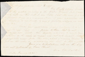 Letter from Lucy M. Ball, Boston, [Massachusetts], to William Lloyd Garrison and Isaac Knapp, 1836 Jan[uary] 19